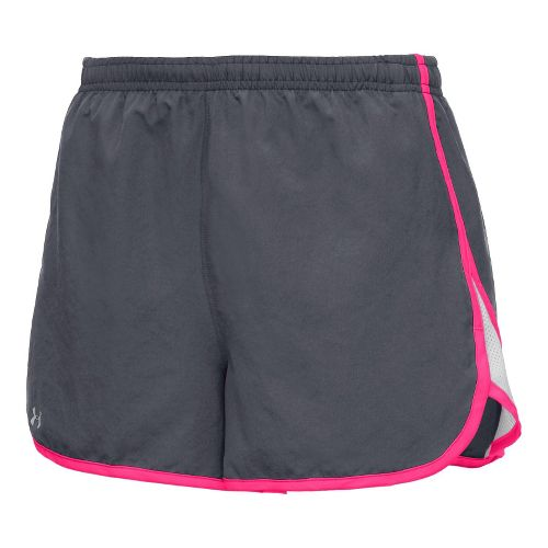 Womens Under Armour TG Escape 3 Lined Shorts - Lead/Pinkadelic XS