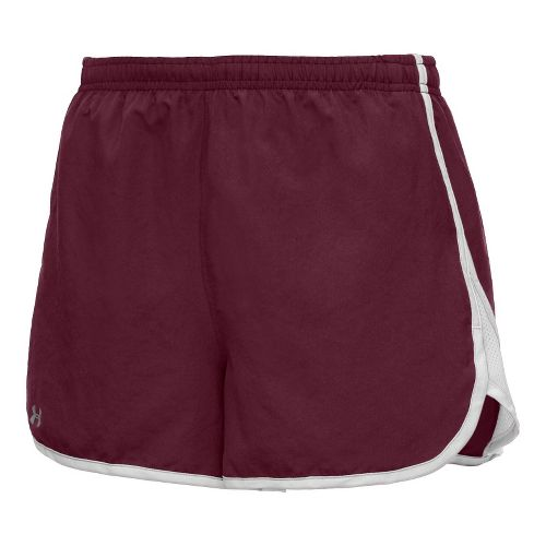 Womens Under Armour TG Escape 3 Lined Shorts - Maroon/White L