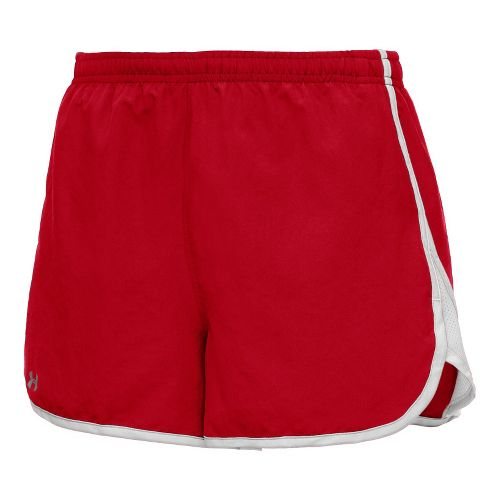 Womens Under Armour TG Escape 3 Lined Shorts - Red/White L