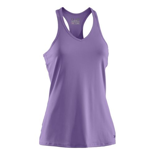 Womens Under Armour Sonic Tanks Technical Tops - Petunia/Monarchy M