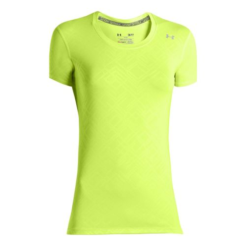 Womens Under Armour Sonic Printed Short Sleeve Technical Tops - X-Ray XL