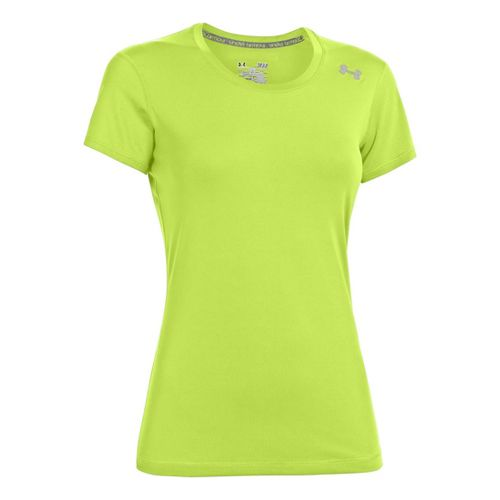 Womens Under Armour Sonic Short Sleeve Technical Tops - X-Ray XL