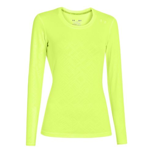 Womens Under Armour Sonic Printed Long Sleeve No Zip Technical Tops - X-Ray L