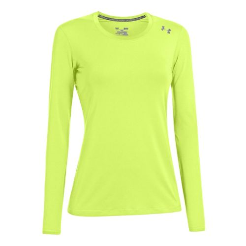 Womens Under Armour Sonic Long Sleeve No Zip Technical Tops - X-Ray XL