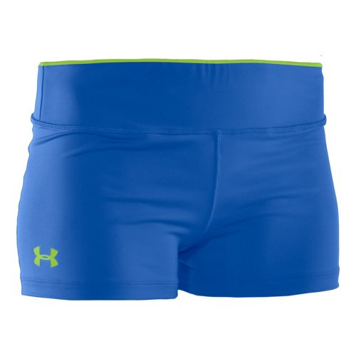 Womens Under Armour Sonic Shorty Fitted Shorts - Blu-Away/Blu-Away M