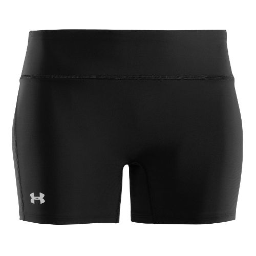 Womens Under Armour Authentic Mid Fitted Shorts - Black/Silver L