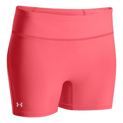Womens Under Armour Authentic Mid Fitted Shorts - Brilliance L