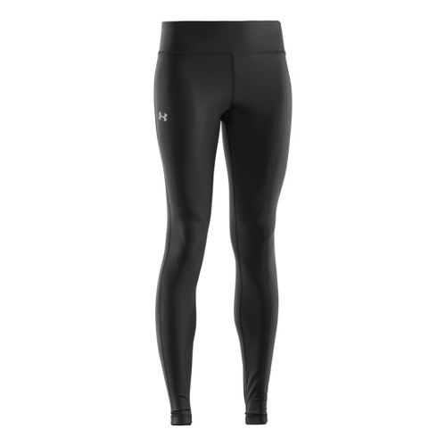 Womens Under Armour Authentic Fitted Tights - Black/Silver XXL
