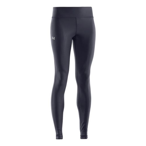Womens Under Armour Authentic Fitted Tights - Lead/Silver M