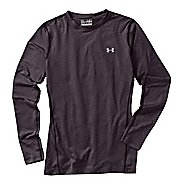 Womens Under Armour Coldgear Fitted Crew Long Sleeve No Zip Technical Tops