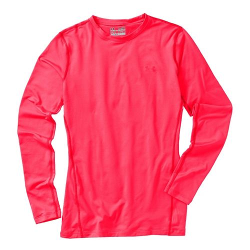 Womens Under Armour Coldgear Fitted Crew Long Sleeve No Zip Technical Tops - Neo Pulse/Neo ...