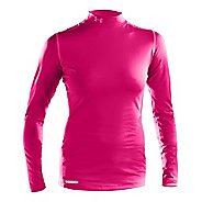 Womens Under Armour ColdGear Fitted Mock Long Sleeve Technical Tops