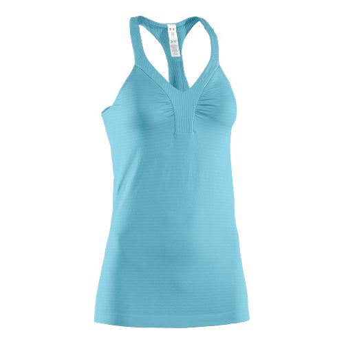 Womens Under Armour Perfectly Seamless V-Tanks Technical Tops - Venere Red/Venere Red M