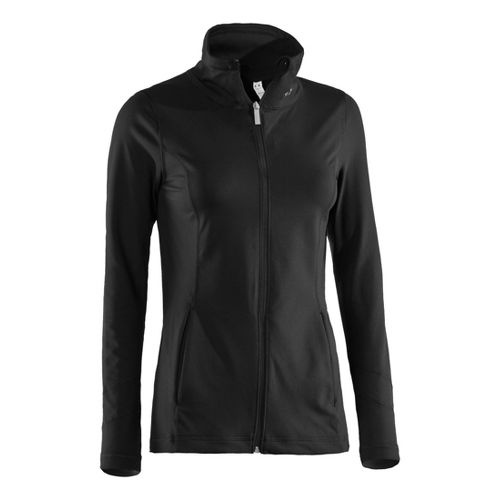 Womens Under Armour Perfect Running Jackets - Black/Metallic Pewter L