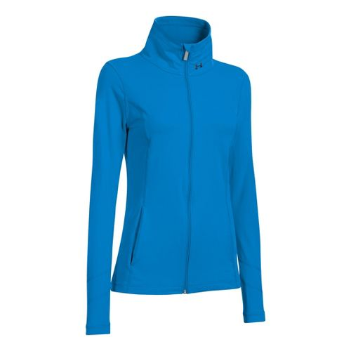 Womens Under Armour Perfect Running Jackets - Electric Blue XS
