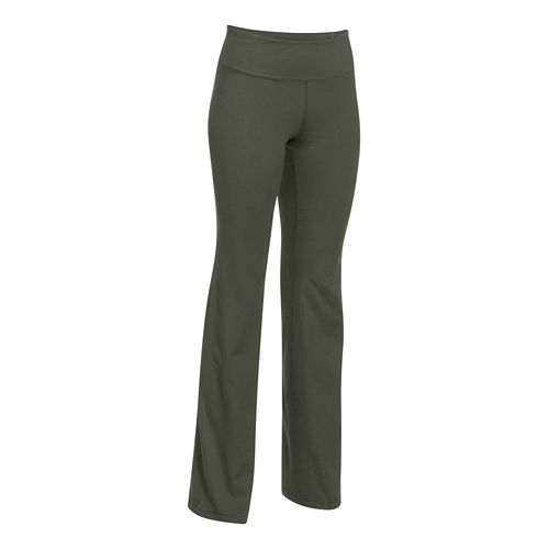 Womens Under Armour Perfect Full Length Pants - Downtown Green S