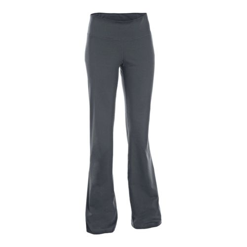 Womens Under Armour Perfect Full Length Pants - Anthracite/Metallic Pewter XL