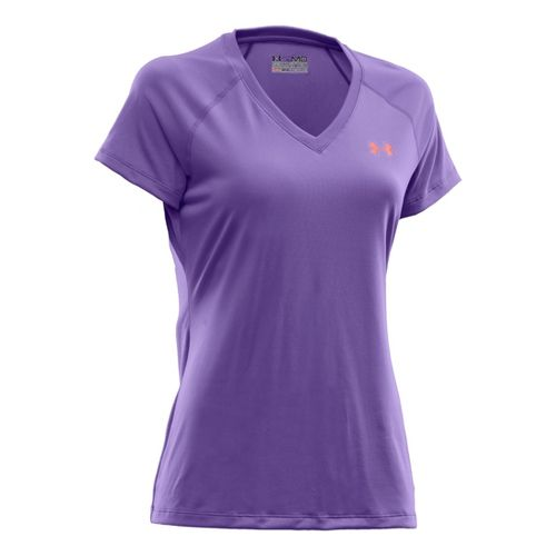 Womens Under Armour Tech Shortsleeve T Technical Tops - Baptista/Heuchera S