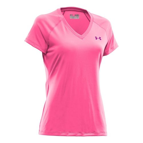 Womens Under Armour Tech Shortsleeve T Technical Tops - Cerise M