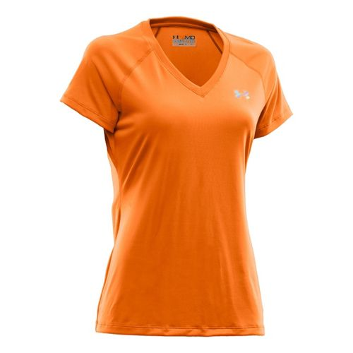 Womens Under Armour Tech Shortsleeve T Technical Tops - Explosive/Iridescent Blue L