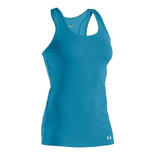 Womens Under Armour Victory Tanks Technical Tops - Deceit/White M