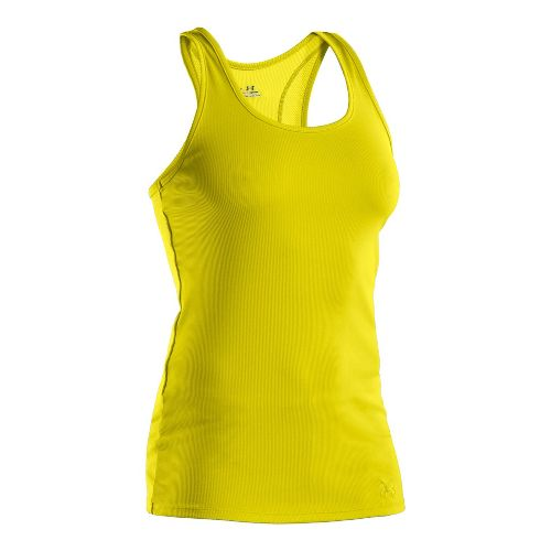 Womens Under Armour Victory Tanks Technical Tops - Lima Bean/Lima Bean L