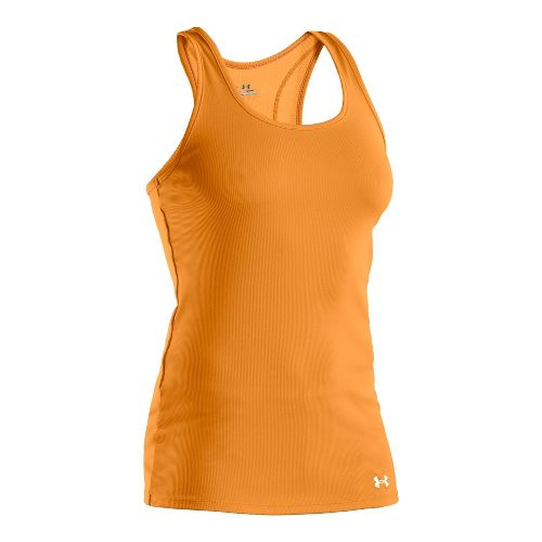Womens Under Armour Victory Tanks Technical Tops - Shine/White S