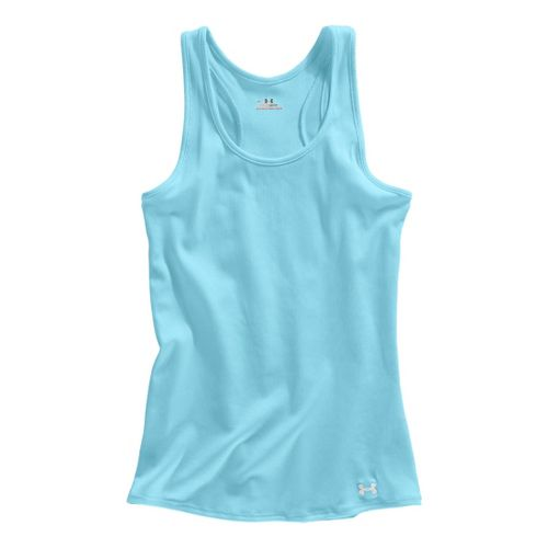 Womens Under Armour Victory Tanks Technical Tops - Venere Red/White XL