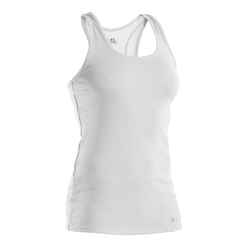 Womens Under Armour Victory Tanks Technical Tops - White/Aluminum S