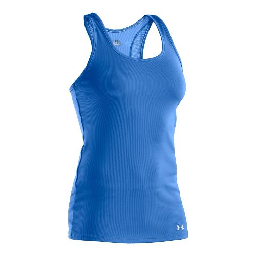 Womens Under Armour Victory Tanks Technical Tops - Water/White XS