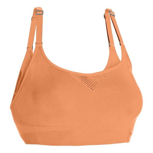 Womens Under Armour Seamless Advantage Sports Bras - After Glow L