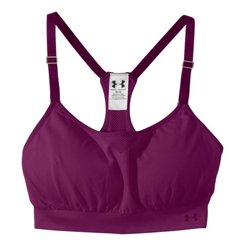 Womens Under Armour Seamless Advantage Sports Bras - Aubergine/Aubergine XL