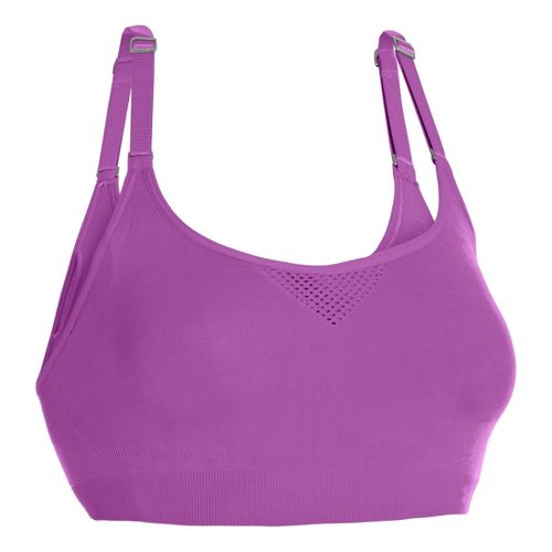 Womens Under Armour Seamless Advantage Sports Bras - Exotic Bloom L