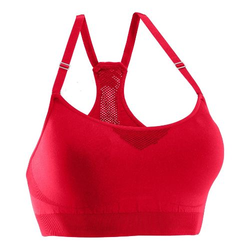 Womens Under Armour Seamless Advantage Sports Bras - Hibiscus/Hibiscus XL