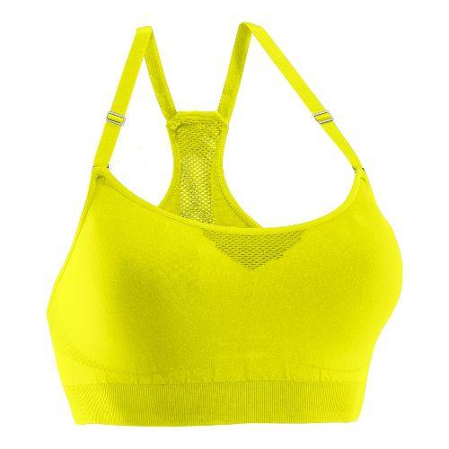 Womens Under Armour Seamless Advantage Sports Bras - High Vis Yellow/High Vis Yellow M