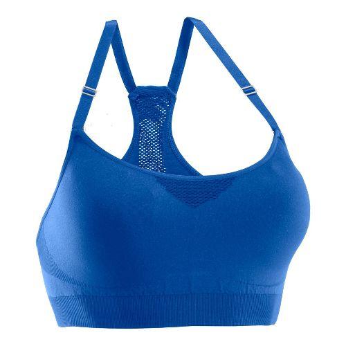 Womens Under Armour Seamless Advantage Sports Bras - Water/Water XL