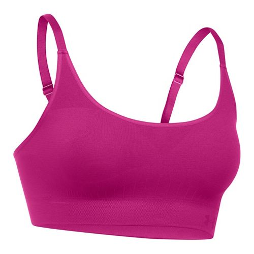 Womens Under Armour Seamless Sports Bras - Magenta Shock L
