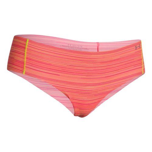 Womens Under Armour Pure Stretch Cheeky Brief Underwear Bottoms - After Glow