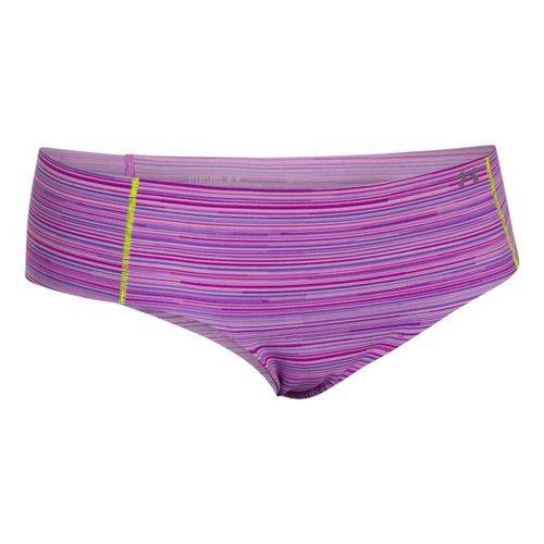 Womens Under Armour Pure Stretch Cheeky Brief Underwear Bottoms - Exotic Bloom/Pride
