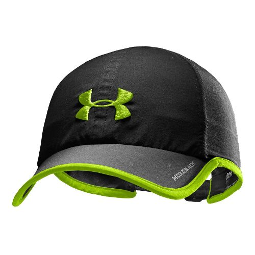 Mens Under Armour Armourlight Cap Headwear - Black/Hyper Green