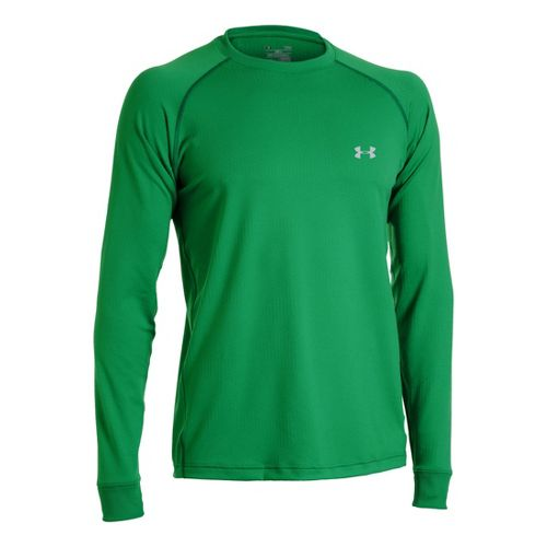 Mens Under Armour Coldgear Infrared Crew Long Sleeve No Zip Technical Tops - Astro ...