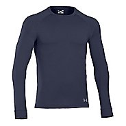 Mens Under Armour Coldgear Infrared Crew Long Sleeve No Zip Technical Tops