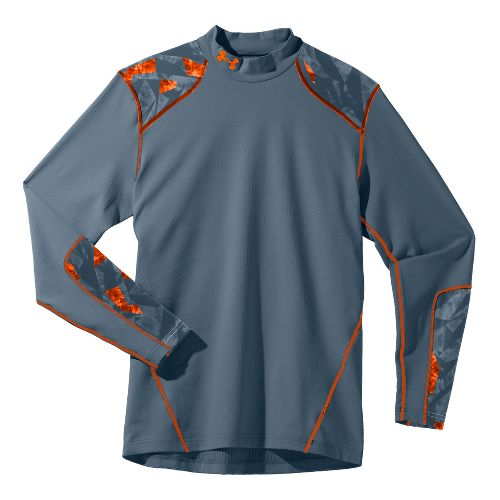Mens Under Armour Coldgear Infrared Evo Mock Long Sleeve No Zip Technical Tops - Bolt ...