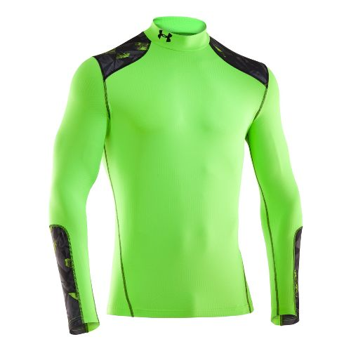 Mens Under Armour Coldgear Infrared Evo Mock Long Sleeve No Zip Technical Tops - Hyper ...