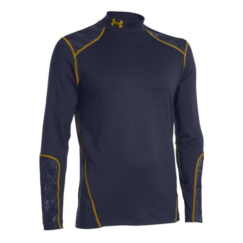 Mens Under Armour Coldgear Infrared Evo Mock Long Sleeve No Zip Technical Tops - Midnight ...