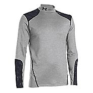 Mens Under Armour Coldgear Infrared Evo Mock Long Sleeve No Zip Technical Tops