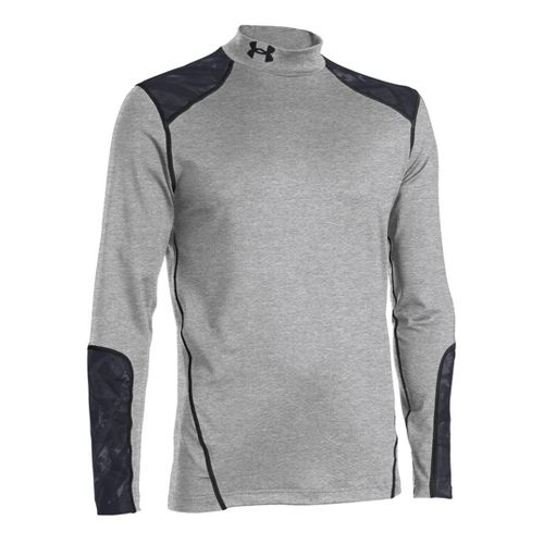 Mens Under Armour Coldgear Infrared Evo Mock Long Sleeve No Zip Technical Tops - True ...