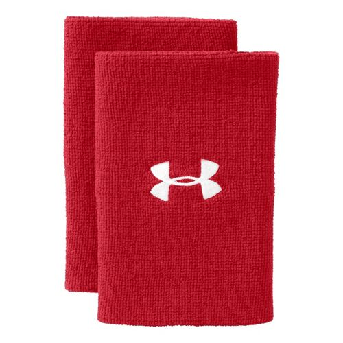 Under Armour 6 Inch Performance Wristband Handwear - Red/White