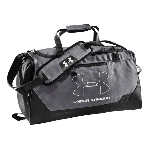 Under Armour Hustle SM Duffel Bags - Graphite/Black