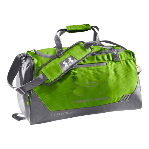 Under Armour Hustle SM Duffel Bags - Hyper Green/Graphite